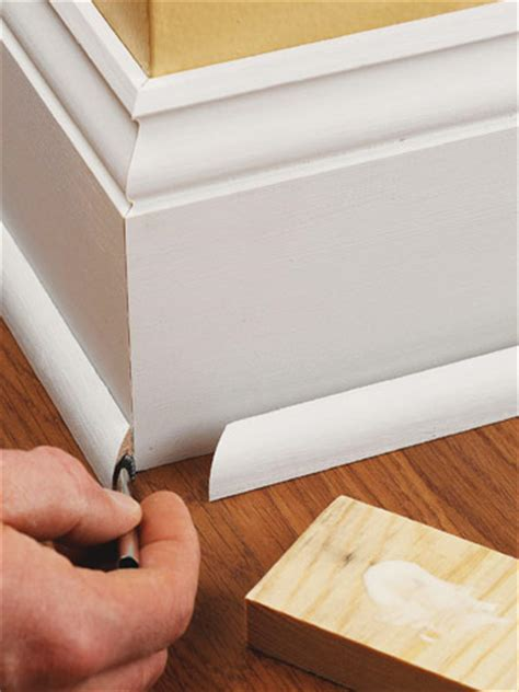 install floor molding base shoe molding how to install baseboard molding carpentry woodworking finish trim