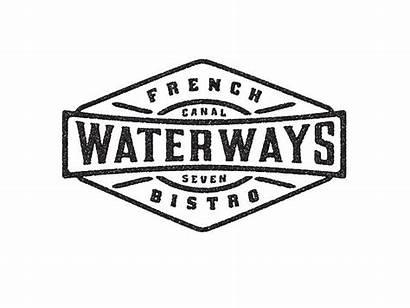 Restaurant French Bistro Waterways Logos David Cran