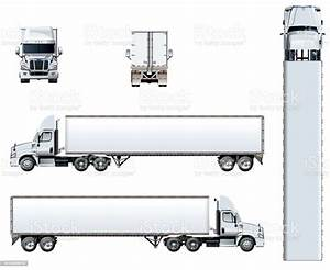 Vector Truck Template Isolated On White Stock Vector Art