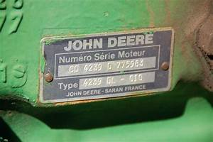 Id Plate For The French John Deere Tractor