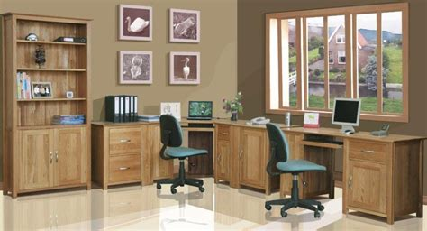 fitted home office furniture in contemporary showroom