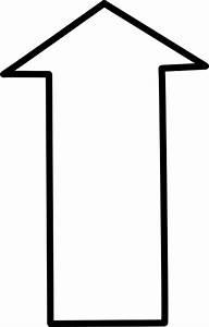 White Outline Up Arrow Clip Art at Clker.com - vector clip ...