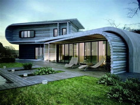 eco homes plans unique house architecture design with wooden material in