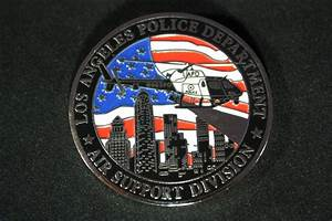 LAPD Air Support Division Challenge Coin with Helicopter ...