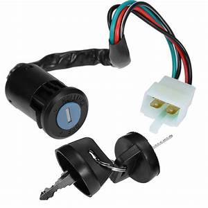 4 Pin Wire Ignition Key Switch For Chinese Quad 4 Wheeler