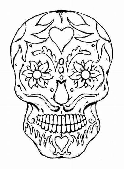 Printable Butterfly Cutouts Skull Sugar Coloring Cliparts