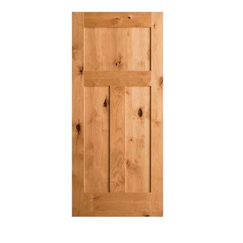 wood interior doors home depot krosswood doors 36 in x 80 in krosswood craftsman 3 panel shaker solid wood core rustic knotty