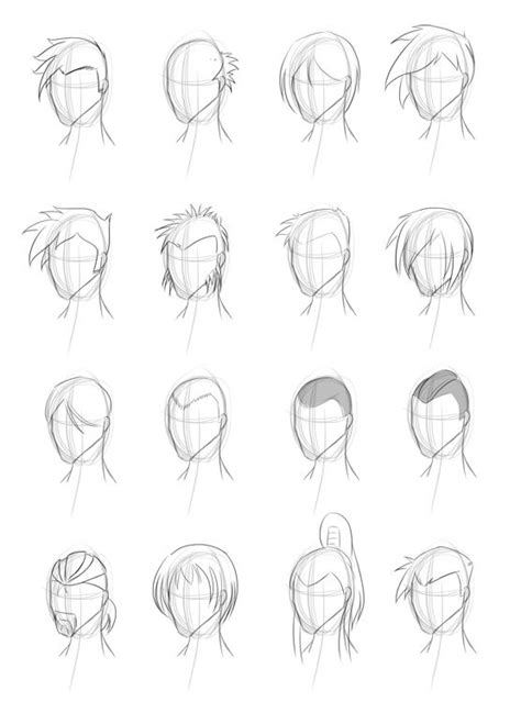 male hairstyle practice  obhan  deviantart drawing