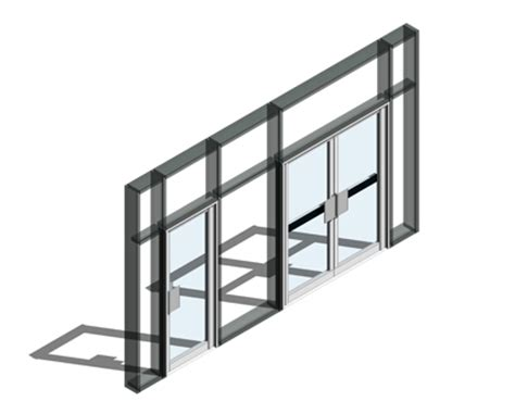Kawneer Curtain Wall Revit by 190 Door Finger Guard Open Out Curtain Wall Door