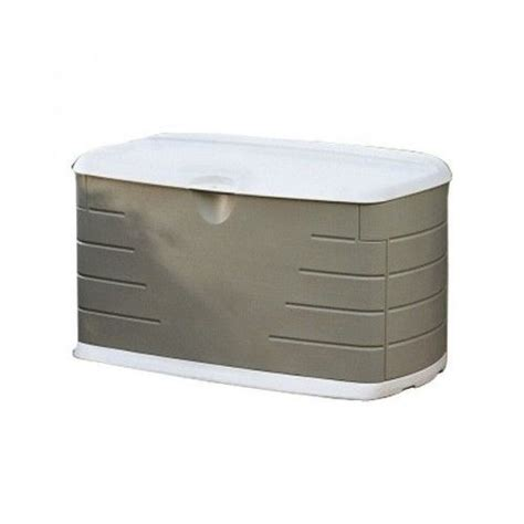 rubbermaid patio storage containers outdoor storage deck box 75 gallon rubbermaid chest lock