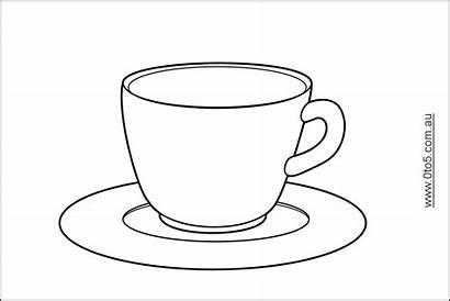 Tea Coloring Printable Pages Teacup Cup Template