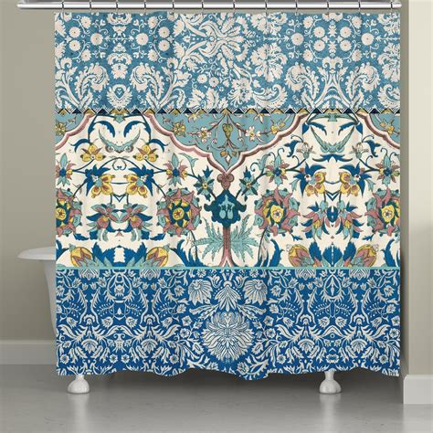 bohemian shower curtain royal blue bohemian tapestry shower curtain