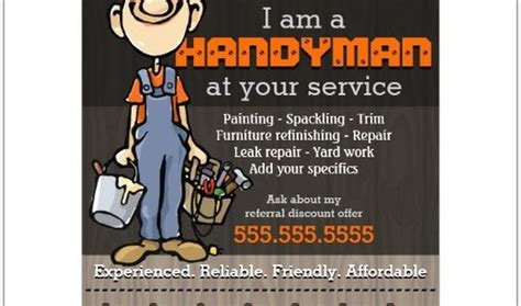 Handyman Services Flyer And Ad Template Design By