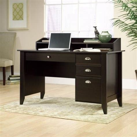 shoal creek desk with hutch shoal creek collection computer desk with mini hutch