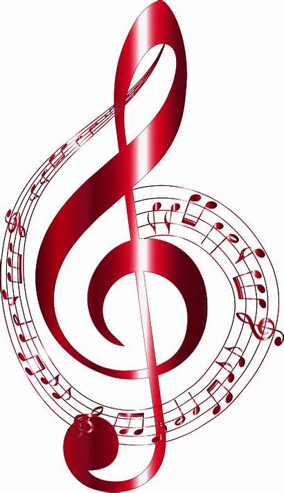 Notes Background Musical Clipart Typography Vermilion Svg