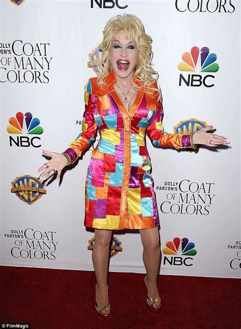 coat of many colors dolly parton wears a coat of many colors at premiere of