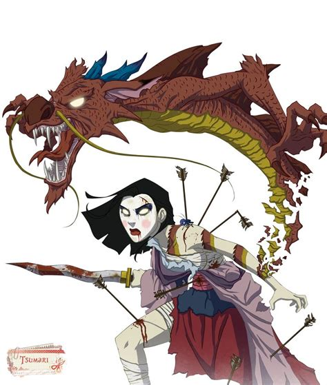 render disney renders mulan mushu zombie dragon fleche sabre epee  disney halloween