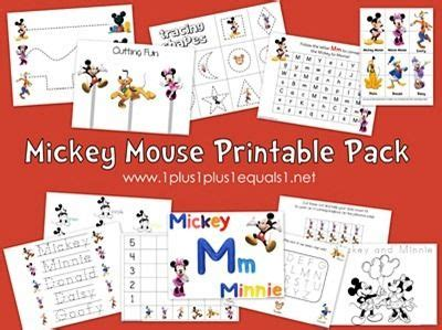 mickey mouse printable pack homeschooling misc mickey 631 | dc551a371a17964bf57e2f6683e2d410