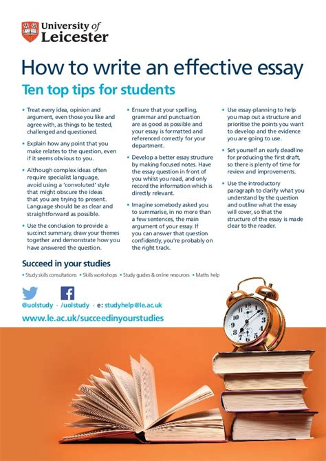 tips for writing an effective how to write an effective essay ten top tips for students