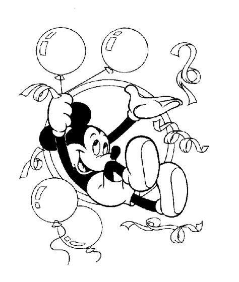 Kleurplaat Met Ballonnen by Kleuren Nu Mickey Viert Feest Met Ballonnen Kleurplaten