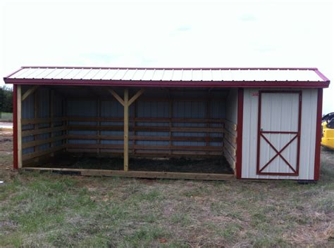 Metal Horse Shed W/ Tack Room