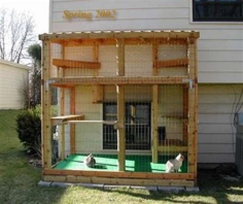 outdoor cat patio enclosures this enclosed patio gives cats plenty of ledges and
