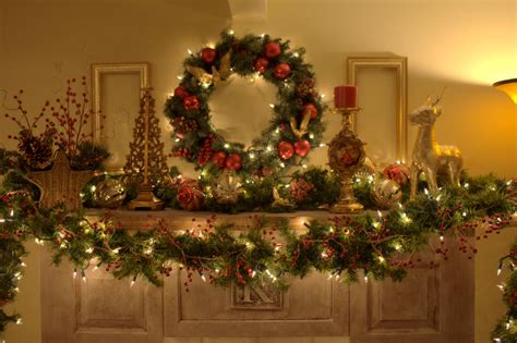 christmas fireplace garland ideas inspirationseekcom