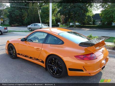 orange porsche 911 gt3 rs 2007 porsche 911 gt3 rs in orange black photo no 22239