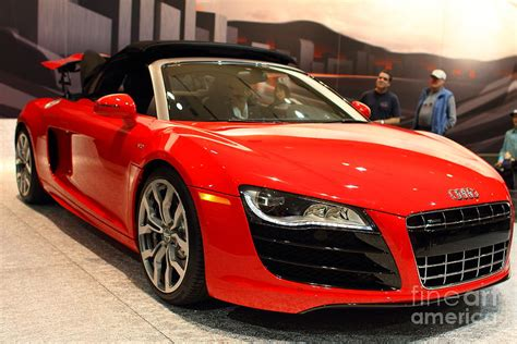 2012 Audi R8 Convertible Red 7d9547 Photograph By