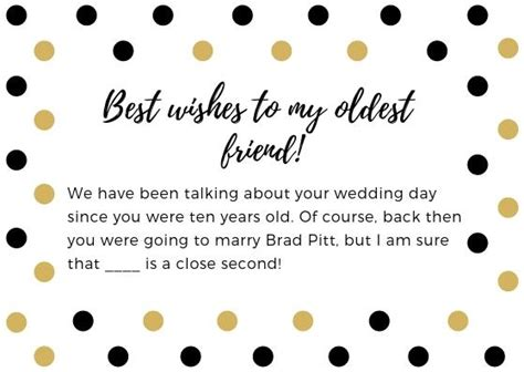 bridal shower wishes   write   bridal shower card examples