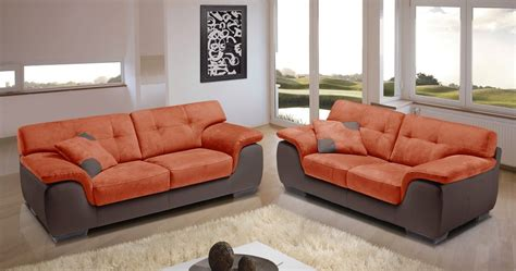 canapé 2places verone canapé cuir et microfibre personnalisable sur