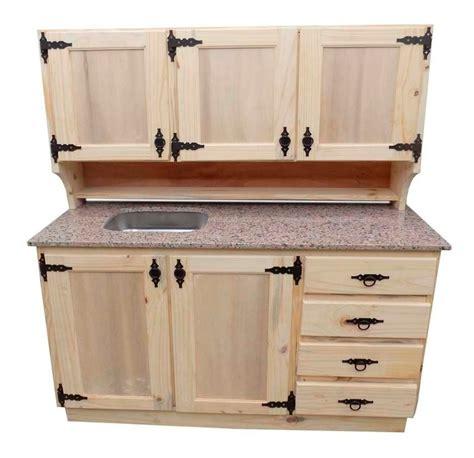 mueble de cocina de madera de pino  herrajes