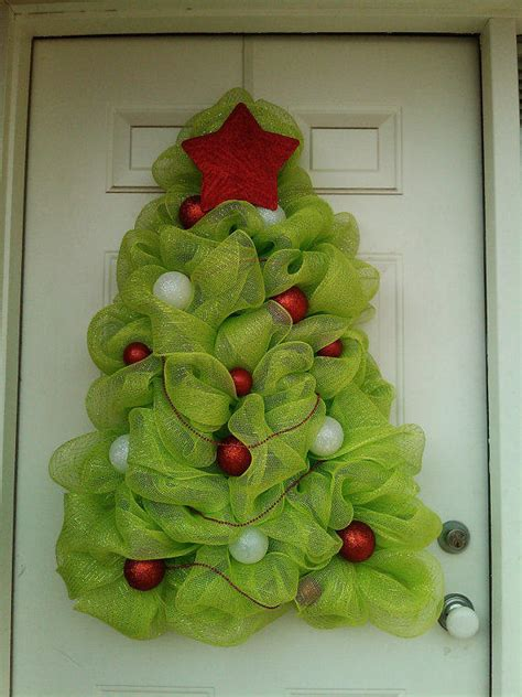 how to add mesh garland christmas tree tree wreath deco mesh from ditzydesign on etsy