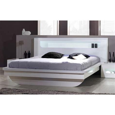 lit adulte design ornella blanc laqu 233 brillant achat vente structure de lit cdiscount
