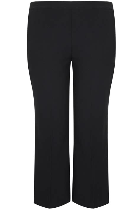 c add to container with templates black classic straight leg trousers with elasticated