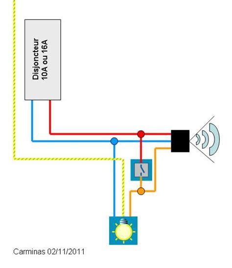 cablage projecteur avec detecteur de pr 233 sence communaut 233 leroy merlin