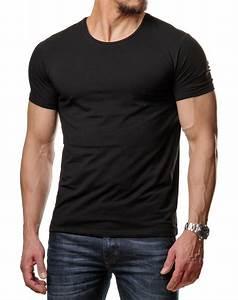 T Shirt Champion Homme : t shirt basic homme col rond noir 171 ~ Carolinahurricanesstore.com Idées de Décoration