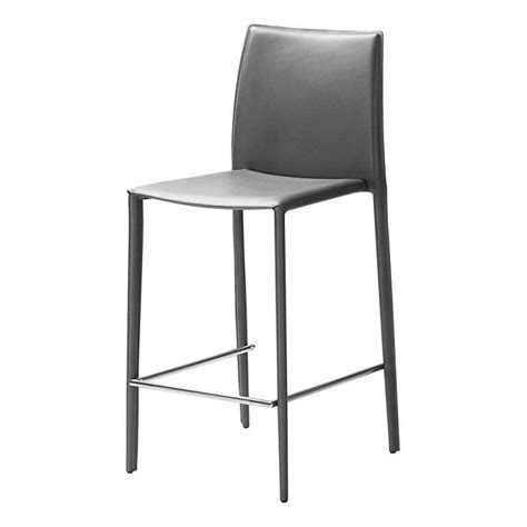 chaise de bar grise chaise haute grise boréale lot de 2 id 39 clik achat