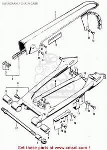Honda Xl100 K0 1974 Usa Swingarm    Chain Case