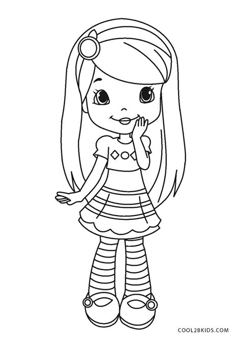 printable strawberry shortcake coloring pages  kids