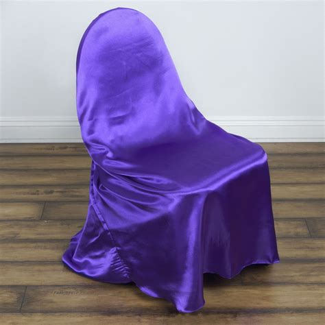 purple universal satin chair covers efavormart