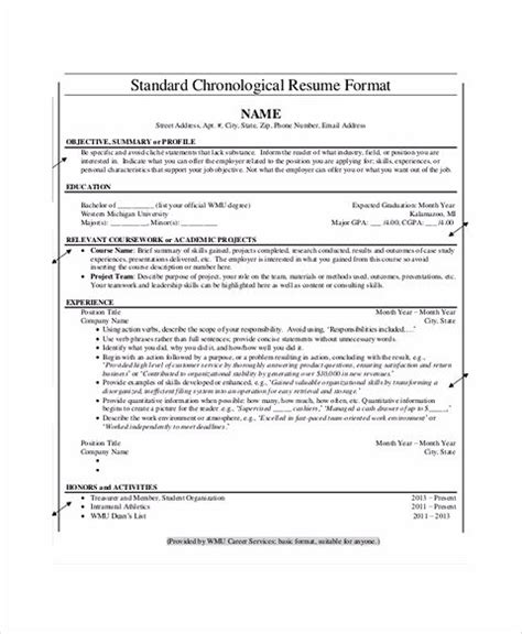 Chronological Resume Or Not by Everything You To About Chronological Resume