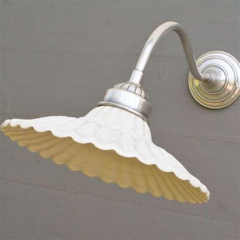 Lada Applique by Applique R 233 Tro Deco Nickel Abat Jour Porcelaine Luminaires
