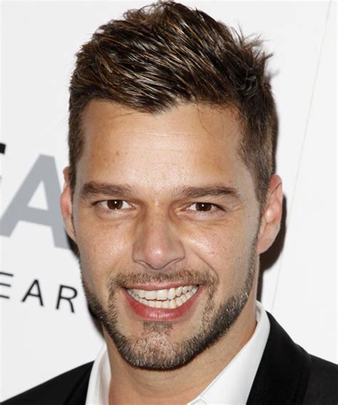 Ricky Martin Short Straight Casual Hairstyle   Dark