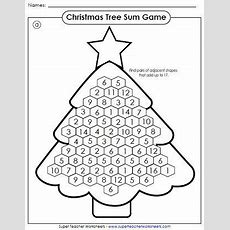 Holiday Worksheets  Write The Sums For The Basic Addition Facts, Then Color According To
