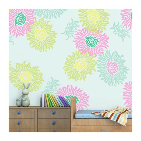 flower stencil jasmin large size reusable wall stencil