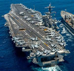 Picture of the USS Carl Vinson Aircraft Carrier Navy