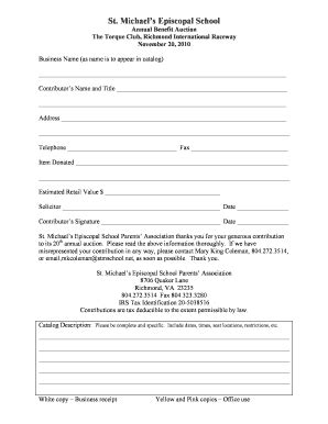 Triplicate Form Template by Item Donation Triplicate Form Fill Online Printable