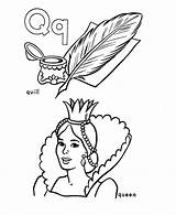 Coloring Alphabet Letter Activity Abc Pages Sheet Queen Quill Sheets Honkingdonkey Popular Primary sketch template