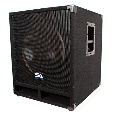 dj speaker box cabinet seismic audio pair of empty 15 inch pro audio subwoofer